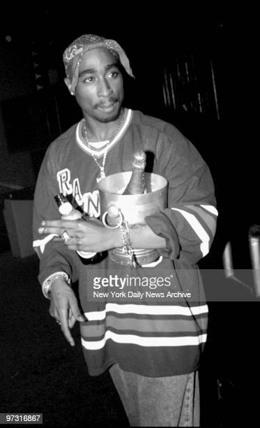 Tupac Shakur attend Fashion Week finale party at Club Expo