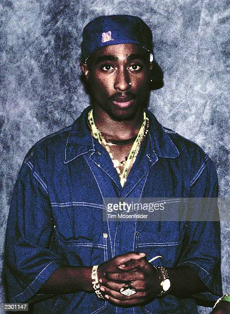 Tupac Shakur backstage at KMEL Summer Jam 1992 at Shoreline Amphitheater in Mountain View CA on August 1st 1992 Image By Tim Mosenfelder/ImageDirect