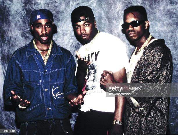 Tupac Shakur backstage with Brother Spice at KMEL Summer Jam 1992 at Shoreline Amphitheater in Mountain View CA on August 1st 1992 Image By Tim...
