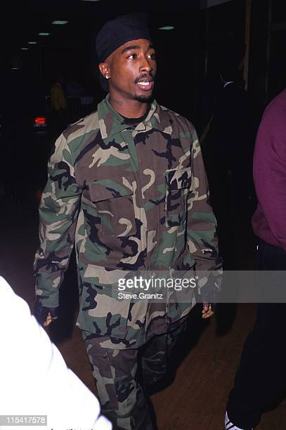Tupac Shakur during 10th Annual Soul Train Music Awards at Shrine Auditorium in Los Angeles California United States