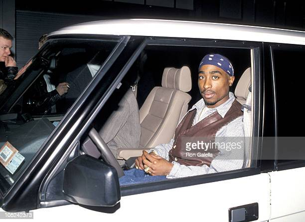 Tupac Shakur during Party For Cowboy Noir Thriller 'Red Rock West' at Club USA in New York City New York United States