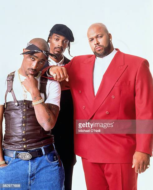 Tupac Shakur Snoop Dogg and Suge Knight