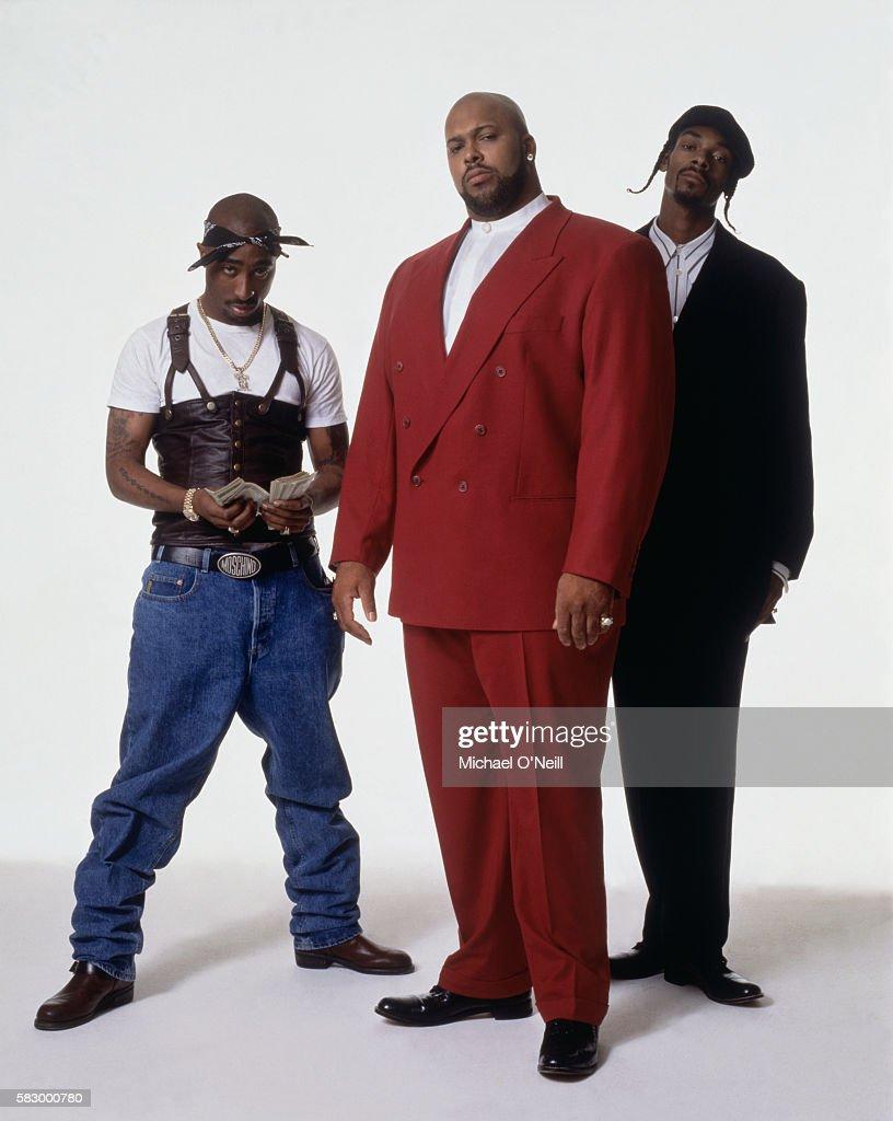 Tupac Shakur, Snoop Dogg, Suge Knight, NY Times Magazine, January 14, 1996 : News Photo