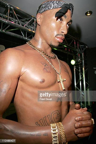 Tupac Shakur waxwork during Tupac Shakur Waxwork Unveiling at Madame Tussaud's London at Madame Tussauds in London Great Britain