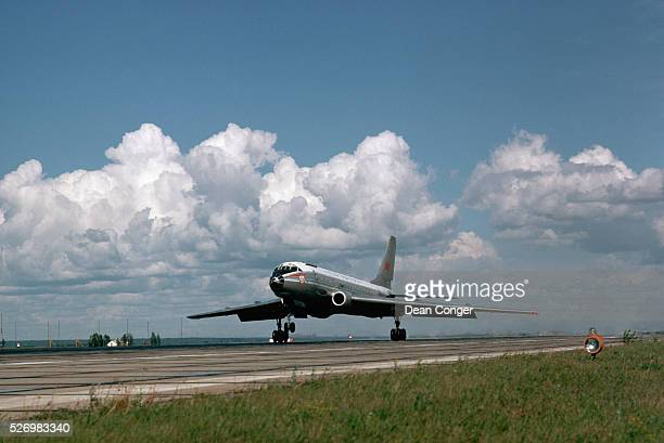 A Tupolev TU104 Aircraft Takes Off From Novosibirsk