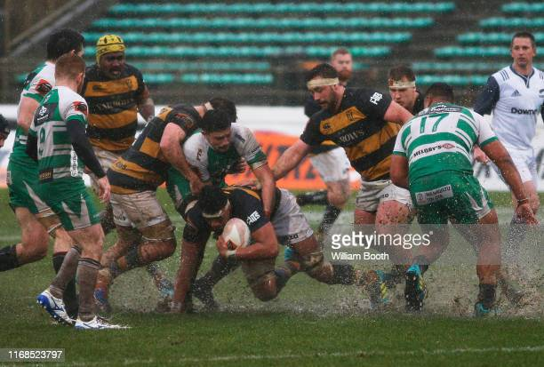 Tupou Vaa'i of Taranaki in action during the round 2 Mitre 10 Cup match between Manawatu and Taranaki at Central Energy Trust Arena on August 17,...