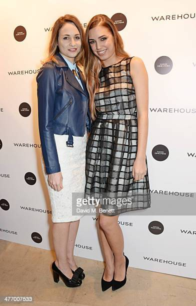 Tuppence Middleton and Amber Le Bon attend the Warehouse Oxford Street Flagship Store Launch on March 6 2014 in London England