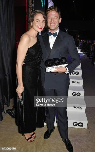 Tuppence Middleton and James Norton winner of the Breakthrough Actor of the Year award attend the GQ Men Of The Year Awards at the Tate Modern on...