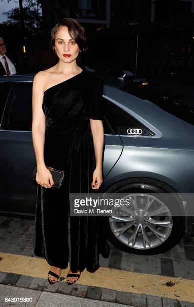 Tuppence Middleton arrives in an Audi at the GQ Men of the Year Awards at Tate Modern on September 5 2017 in London England