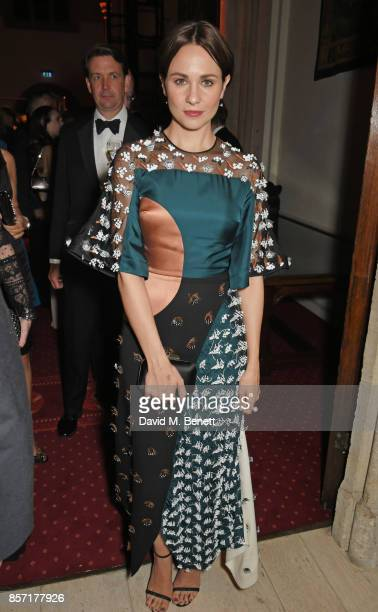Tuppence Middleton attends the BFI and IWC Luminous Gala at The Guildhall on October 3 2017 in London England