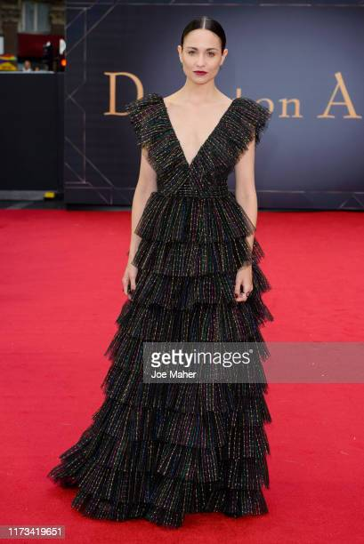 "Tuppence Middleton attends the ""Downton Abbey"" World Premiere at Cineworld Leicester Square on September 09, 2019 in London, England."
