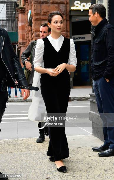 Tuppence Middleton is seen outside the Build Studio on October 22 2019 in New York City