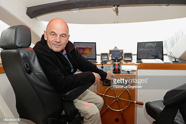 Turanor PlanetSolar's Captain Gerard D'Aboville poses in the cockpit of the largest solar vessel in the world powered exclusively by the sun on...