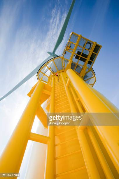 A turbine at the Walney offshore wind farm, Cumbria, UK.