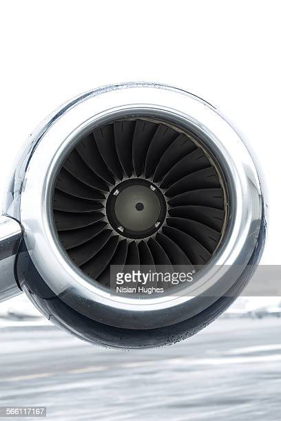 turbine engine of private jet