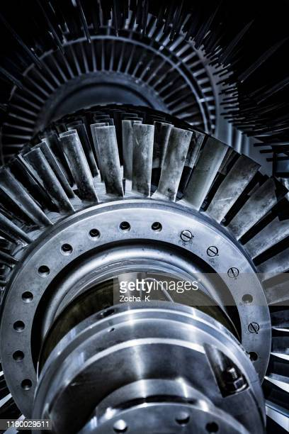 turbine in reparation process - turbine stock pictures, royalty-free photos & images