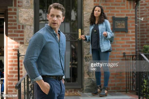 "Turbulence"" Episode 103 -- Pictured: Josh Dallas as Ben Stone, Athena Karkanis as Grace Stone --"