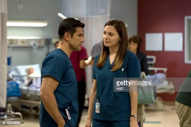 SHIFT 'Turbulence' Episode 405 Pictured Mark Consuelos as Cain Diaz Jill Flint as Jordan Alexander