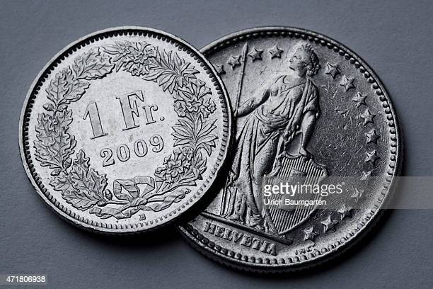 Turbulences around the Swiss franc Our picture shows coins of the Swiss currency