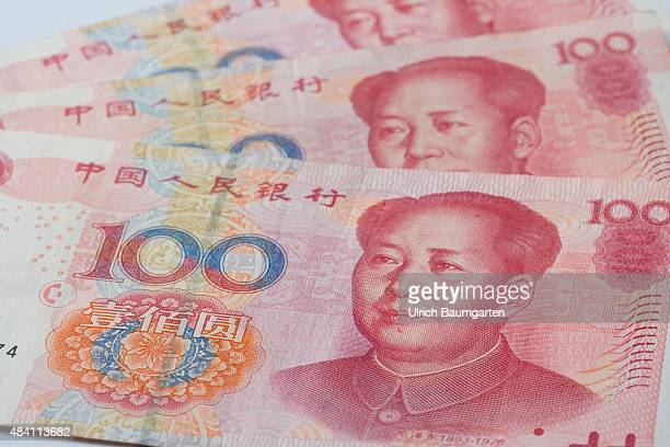 Turbulences on the financial market Our picture shows Chinese 100 Yuan banknotes
