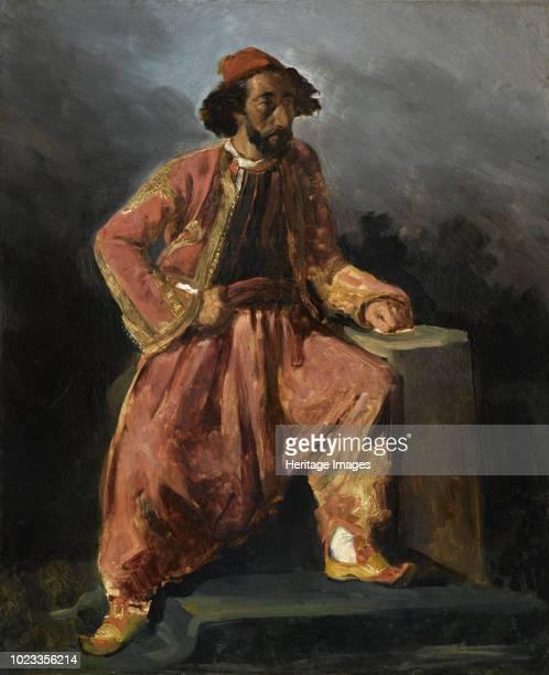 Turc assis Portrait presume de Paul Barroilhet 1826 Found in the Collection of Musée du Louvre Paris