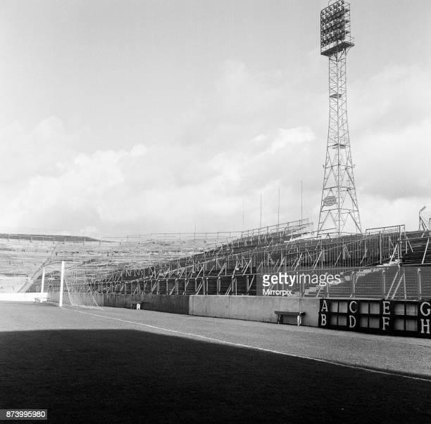 Turf Moor football stadium, the home of Burnley FC, Lancashire, 28th February 1967.