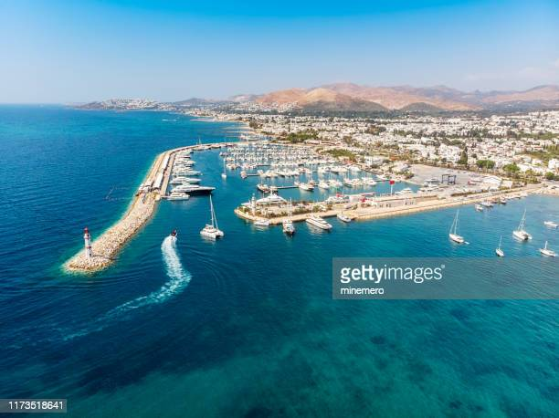 turgutreis marina - aegean turkey stock pictures, royalty-free photos & images