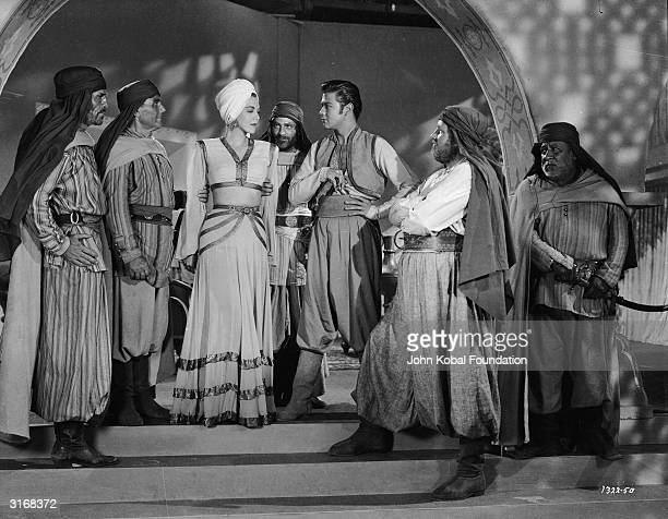 Turhan Bey stars with Maria Montez the 'Caribbean Cyclone' in 'Ali Baba and the Forty Thieves' directed by Arthur Lubin