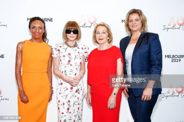 Turia Pitt, Anna Wintour, Ita Buttrose and Jelena Dokic arrives at the AO Inspirational Series Brunch at The Glasshouse on January 24, 2019 in...
