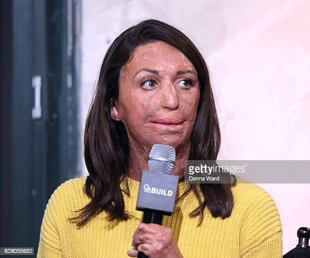 Turia Pitt appears to promote the 'Ironman World Championship' during the AOL BUILD Series at AOL HQ on December 6 2016 in New York City
