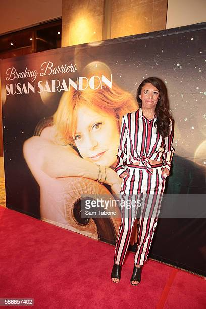Turia Pitt arrives for leadership lunch with Susan Sarandon at Crown Palladium on August 7 2016 in Melbourne Australia