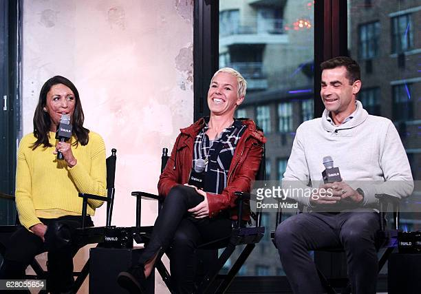 Turia Pitt Heather Jackson and Tim O'Donnell appear to promote the 'Ironman World Championship' during the AOL BUILD Series at AOL HQ on December 6...