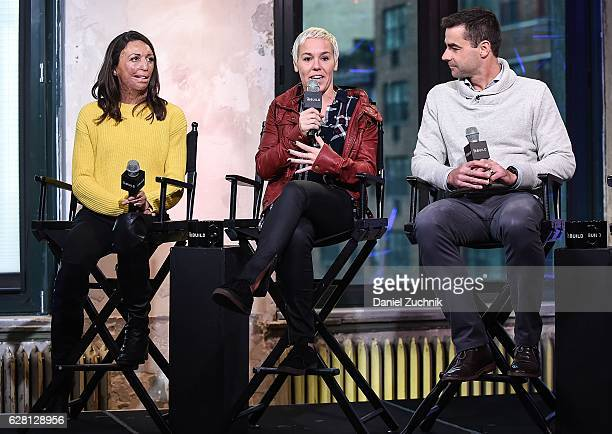 Turia Pitt Heather Jackson and Tim O'Donnell attend AOL Build to discuss the new show ''Ironman World Championship' at AOL HQ on December 6 2016 in...