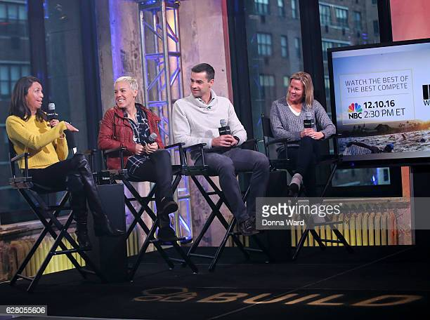 Turia Pitt Heather Jackson Tim O'Donnell and Mirinda Carfrae appear to promote the 'Ironman World Championship' during the AOL BUILD Series at AOL HQ...