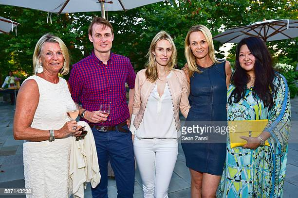 Turid Hunblen Holger Henbrichs Carola Jain Lise Evans and Susan Shin attend Celebration of Steinway Spirio Hosted by Joan and George Hornig and...