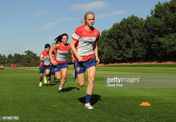 Turid Knaak of Arsenal Ladies during their training session at London Colney on July 3 2014 in St Albans England