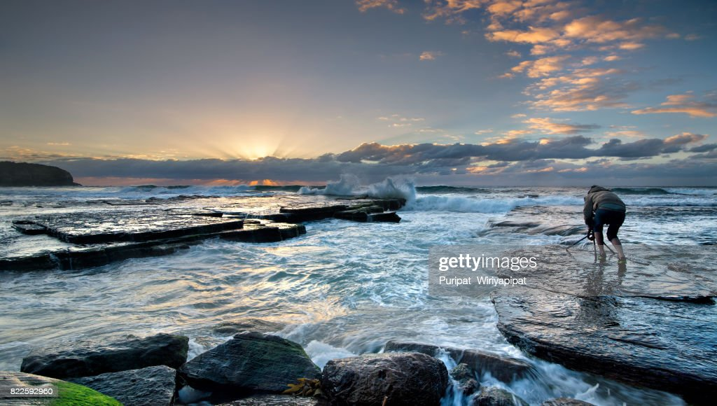 Turimetta Beach, in Sydney's Northern Beaches : Stock Photo