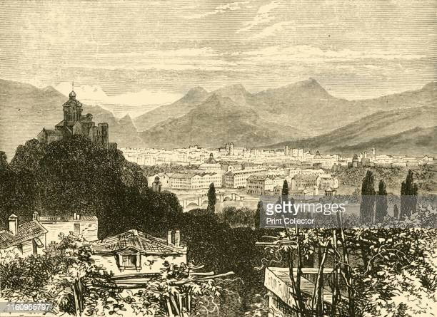 'Turin', 1890. Turin, located on the western bank of the Po River, from 1563, it was the capital of the Duchy of Savoy and was annexed by the French...
