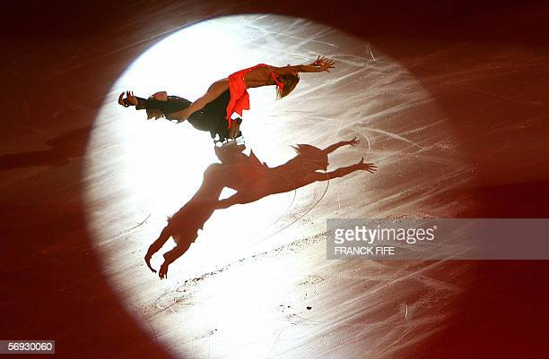 Bulgarian pair Albena Denkova and Maxim Staviski perform in the Gala exhibition closing the Figure skating competition at the 2006 Winter Olympics 24...