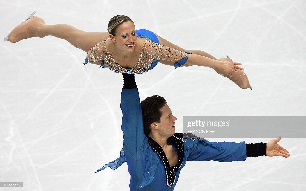Canadian pair Valerie Marcoux and Craig Buntin perform in the Pairs Free Skating program during the Figure skating competition at the 2006 Winter Olympics, 13 February 2006 at the Palavela in Turin.