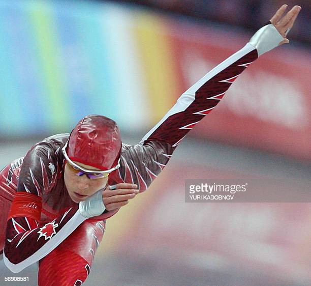 Cindy Klassen of Canada skates to win the Ladies 1500M speed skating competition during the 2006 Winter Olympics 22 February 2006, in Turin. Klassen...
