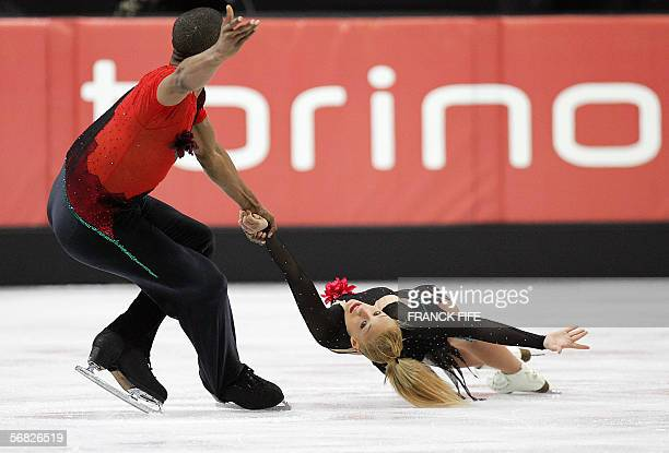 French pair Marylin Pla and Yannick Bonheur perform in the Pairs Short Program during the Figure skating competition at the 2006 Winter Olympics 11...