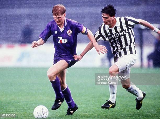 A 92/93 Turin JUVENTUS TURIN AC FLORENZ Stefan EFFENBERG/FLORENZ Dino BAGGIO/TURIN