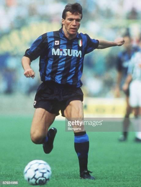 LIGA 89/90 Turin JUVENTUS TURIN INTER MAILAND Lothar MATTHAEUS/MAILAND