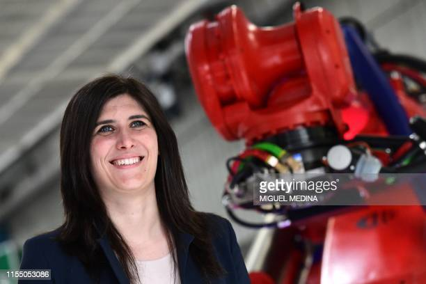 Turin mayor Chiara Appendino attends the inauguration of new robots manufactured by Comau on the assembly line of the Fiat 500 BEV Battery Electric...