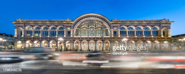 turin, porta nuova railway station - turin stock pictures, royalty-free photos & images