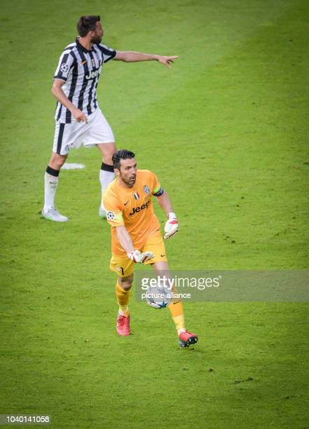 Turin's Gianluigi Buffon during the UEFA Champions League final soccer match between Juventus FC and FC Barcelona at Olympic Stadium in Berlin...