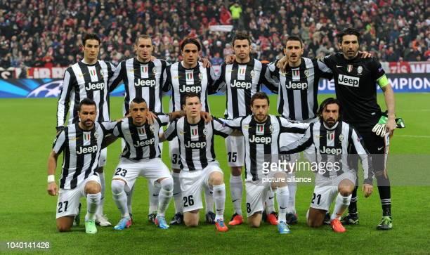 Turin's team Federico Peluso Giorgio Chiellini Alessandro Matri Andrea Barzagli Leonardo Bonucci Turin's goalkeeper Gianluigi Buffon Fabio...