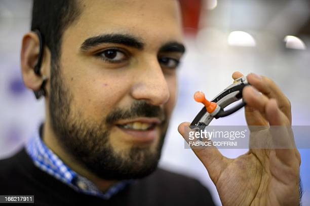 Turk Hamit Kanuni Kuralkan presents on April 10 2013 his invention an earplug that achieves unprecedented protection by taking the shape of the ear...