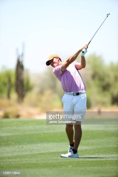 Turk Pettit of the Clemson Tigers hits an approach shot during the Division I Mens Golf Championship held at the Grayhawk Golf Club on May 29, 2021...